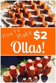 Ollas have been used as a irrigation technique for over 4000 years. They are incredibly water efficient. Find out how to make your own ollas here! I made these ones for just $2 each!