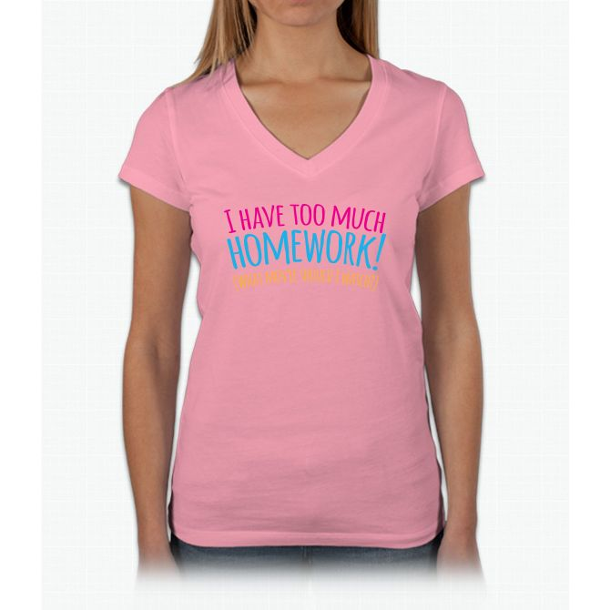 I Have Too Much Homework (what Movie Should I Watch) Bee Movie Womens V-Neck T-Shirt