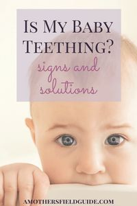 Teething can produce some frustrating and confusing signs for a parent. Find out easily whether or not your baby is teething, and how to help the pain!