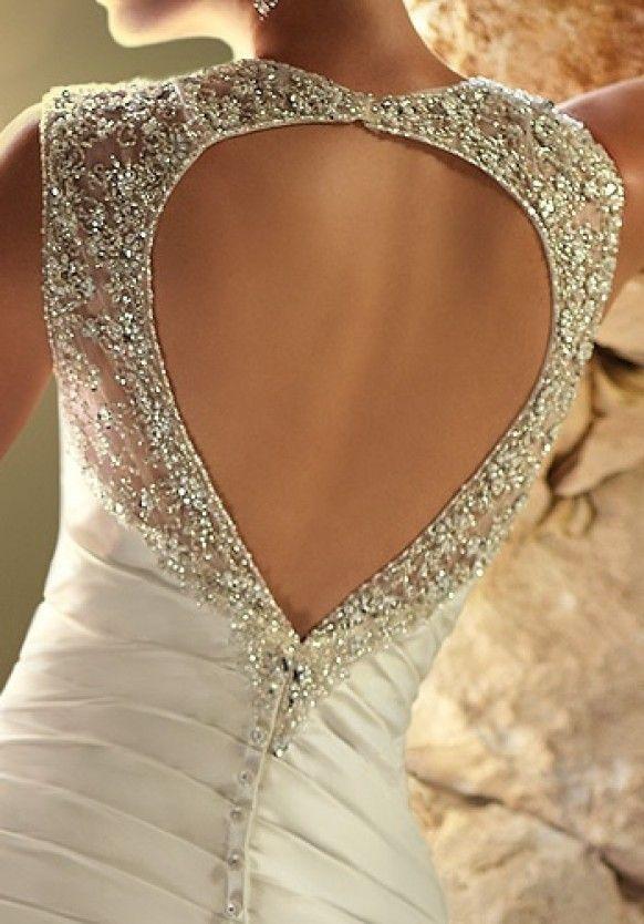 Taffetà Abito da sposa a cuore aperto Back di Ella nuziale Wedding ♥ San Valentino Idea Day Dress - Weddbook