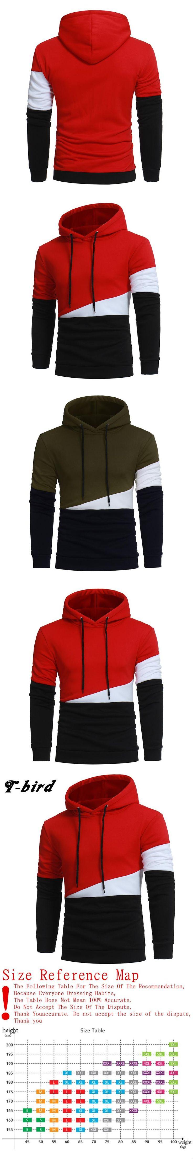T-Bird Brand Hoodies Men 2017 Male Long Sleeve Hoodie Black&White Sweatshirt Mens Moletom Masculino Hoodies Slim Tracksuit XXXL