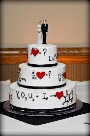 I want to marry a mathematician so we can have this chemistry math wedding cake:)