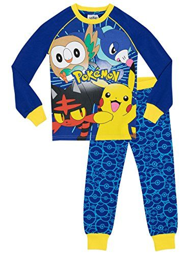 buy now £14.95 Kids Pokemon Pyjamas. Every young Pokemon master will be ready to Catch 'em All in these fab pjs featuring Pikachu, Litten, Rowlet and Popplio and fun trousers ...Read More