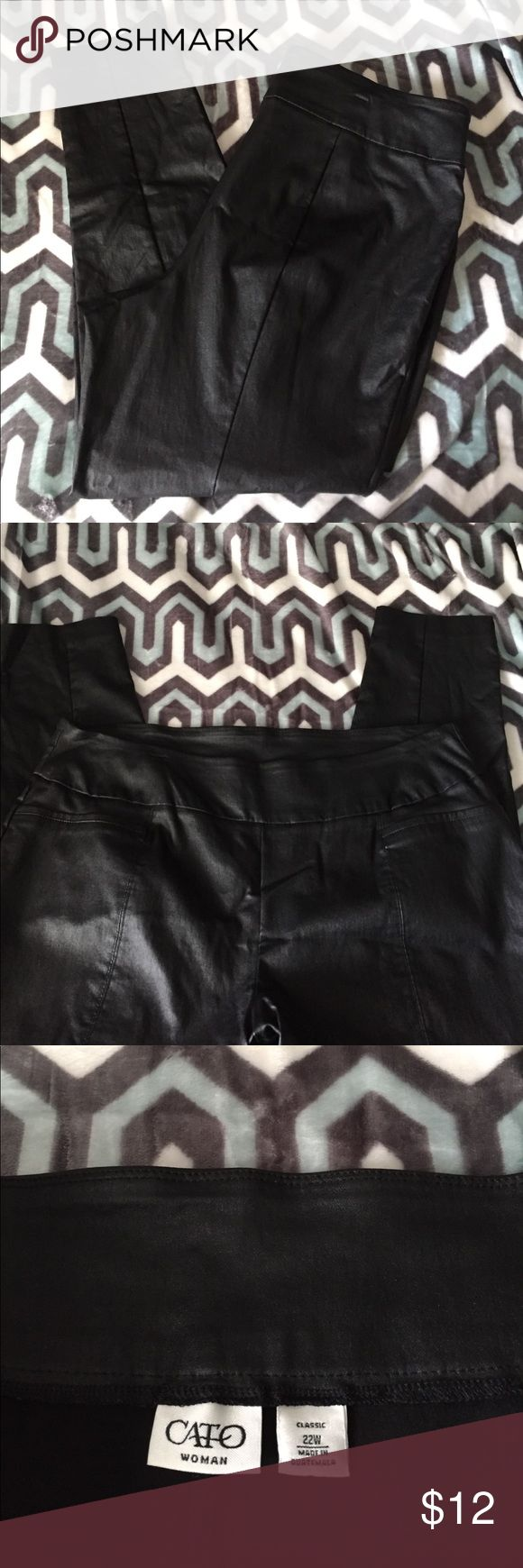 Cato faux leather skinny jeans 🔥PLUS🔥 These pants are amazing and look very sexy on. 🔥Perfect condition 🔥 these are almost like leggings but with better material Cato Pants Skinny