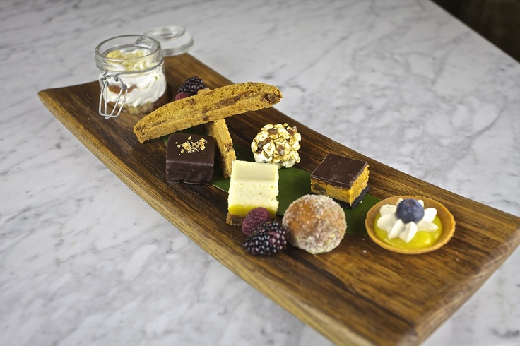 Peanut butter crunch bar, key lime cheesecake, anise white chocolate ...