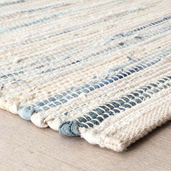 Denim Rag Woven Cotton Rug Dash Albert In 2020 Denim Rag Rugs Denim Rug Cotton Rug