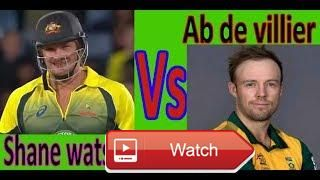 AB de Viilers VS Shane Watson Rap Battle  this video about AB de Viilers VS Shane Watson watch this and comment who is the best Shane Watson Best Sixes UPDAT