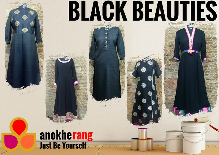 ADDICTED TO BLACK - I'll stop wearing black when they make a darker color  To order message me on FB or Whatsapp +918826089843 or logon to www.anokherang.com  #anokherang #JustBeYourself