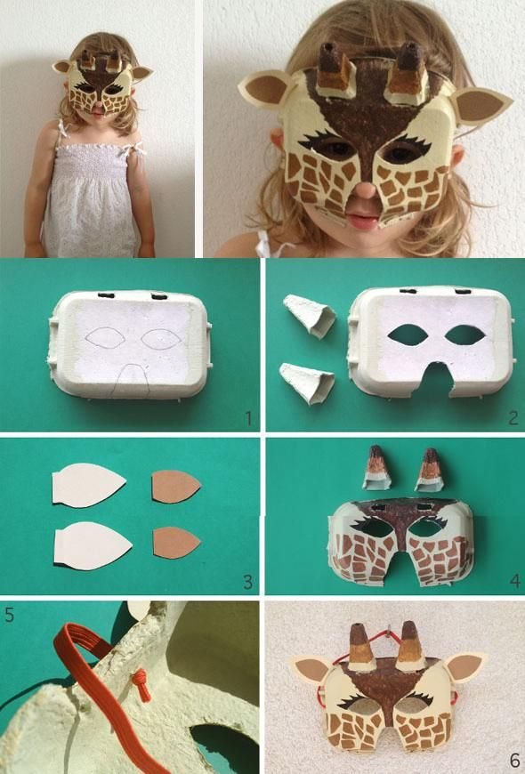 DIY Egg Carton Giraffe Mask