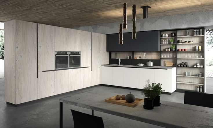 Lab13 is the latest modern kitchen cabinet collection from Aran Cucine featuring customizable kitchen features and smart space solutions in a ton of styles.