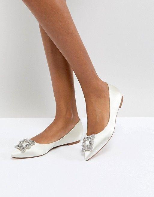 Asos. Wedding flats. #ad #weddings #shoes #flats