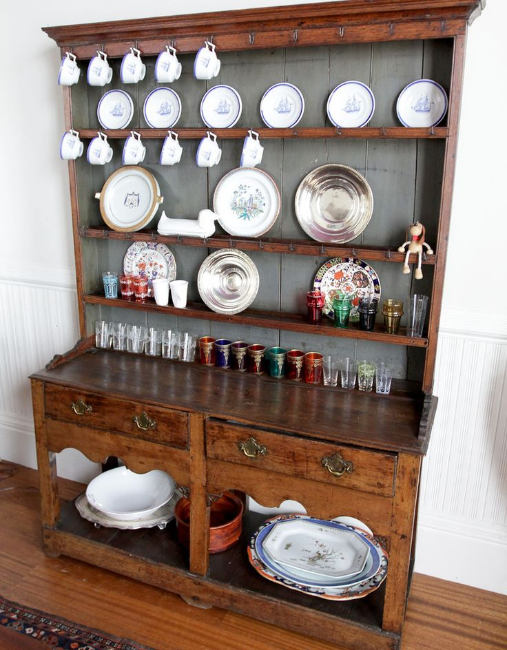 OAK WELSH DRESSER Two Drawers And Wrought Iron Cup Hooks Late 18th Century For Dining Room