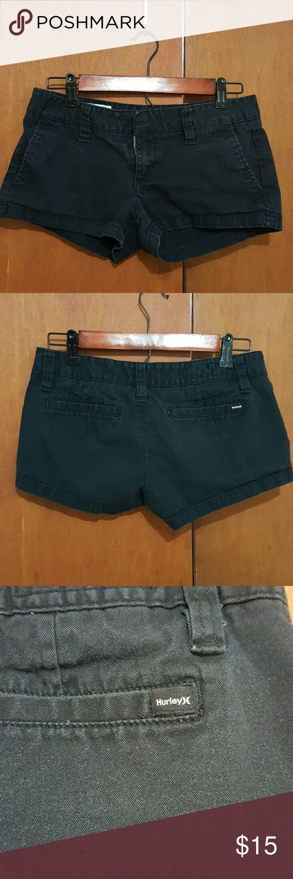 Hurley black juniors shorts. These are cute shorts, gently worn. Hurley Shorts