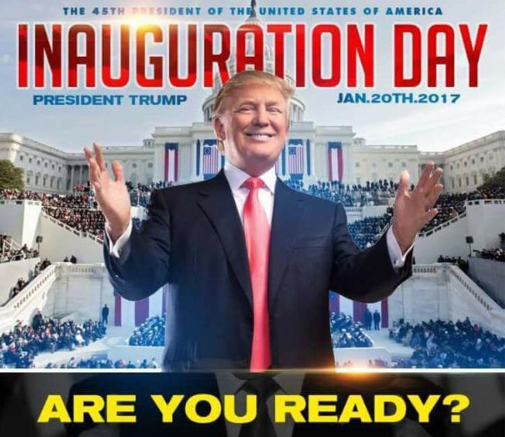 The Trump inauguration countdown.