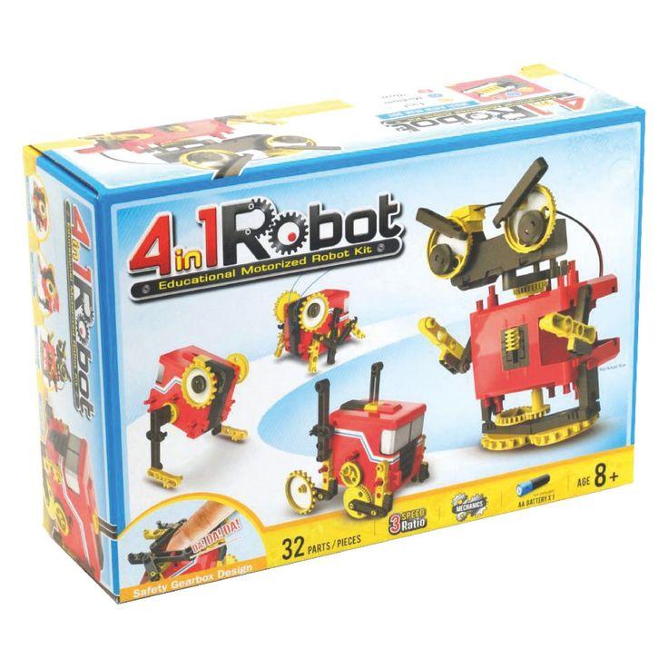 ZAPPI 4-in-1 motorised robot kit