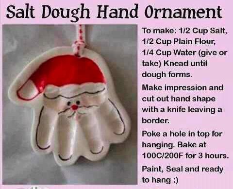 Santa Hand Ornament for kids!