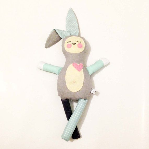 Taylor the snoozing plush unisex bunny toy for babies. $25 by LilMeegs