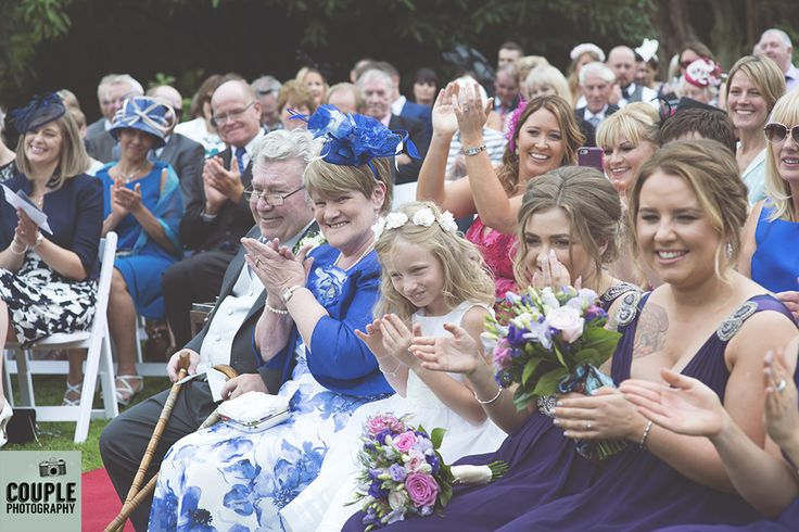 A huge round of applause for the newlyweds. Weddings at Rathsallagh House Hotel…