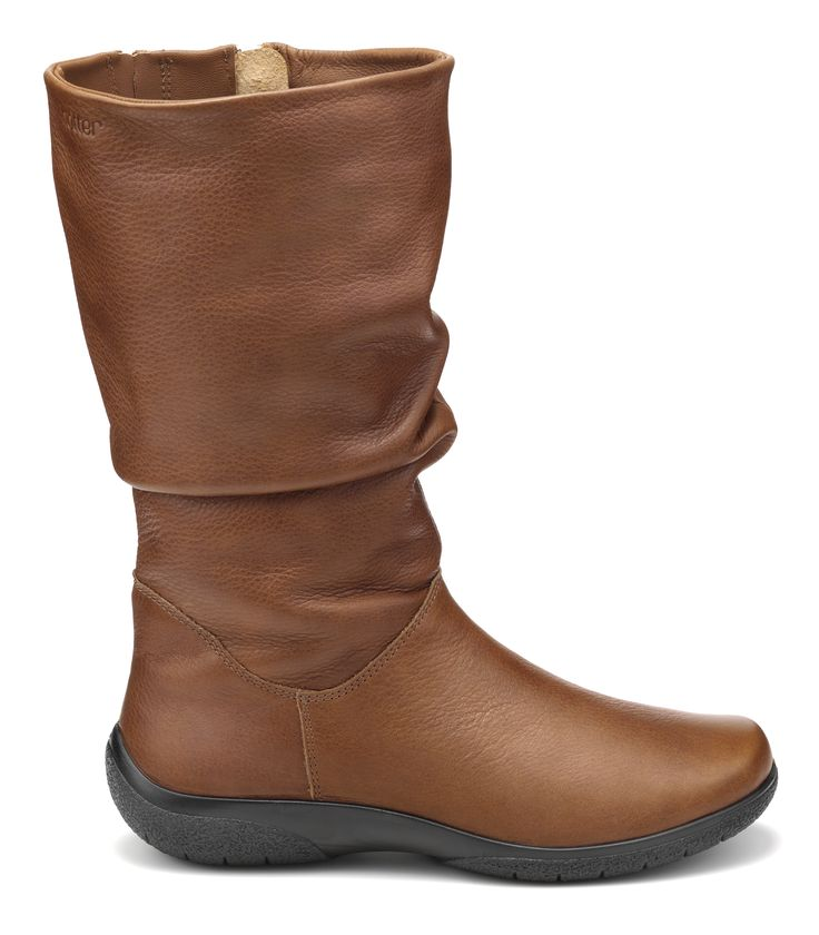 It is the ruched leather detail that gives Mystery its signature stylish appeal and the cushioned comfort that makes this Hotter Original a seasonal best-seller.