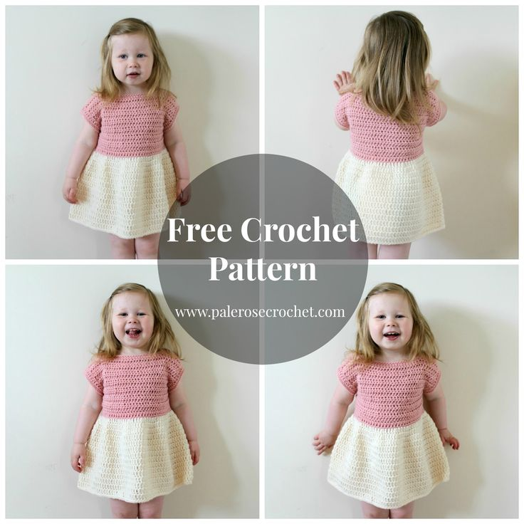 Pale Rose Crochet: Toddler Party Dress Crochet Pattern
