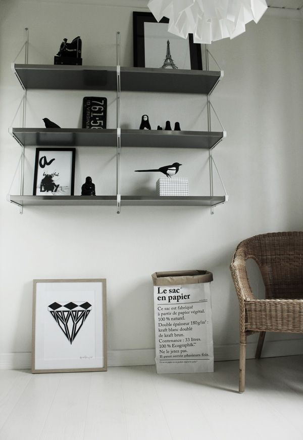 Some of my posters in IKEA shelf.