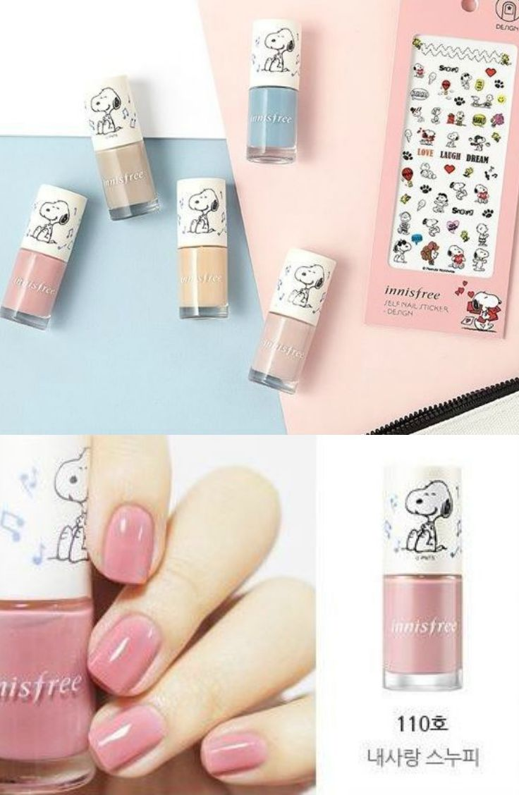 Innisfree Real Color Nail Snoopy Limited Edition 5 Types Yesstyle Snoopy Nails Nail Colors Nails
