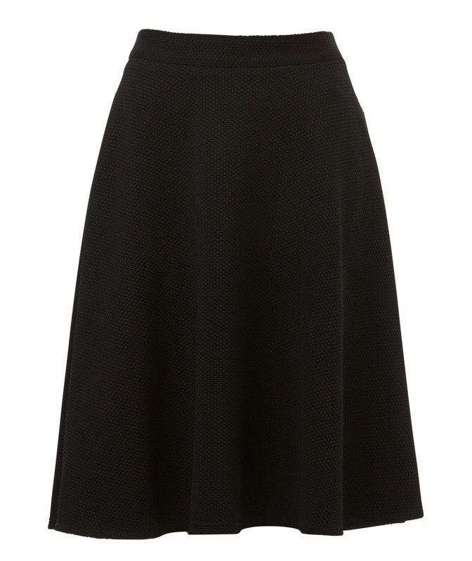 TEXTURED FULL SKIRT-Skirts-Clothing