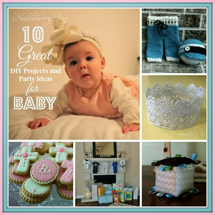 10 Great DIY Projects and Party Ideas for Baby {Round-up} Awesome ideas for babies, including sewing and crochet tutorials, baby shower ideas, a baptism party and more!