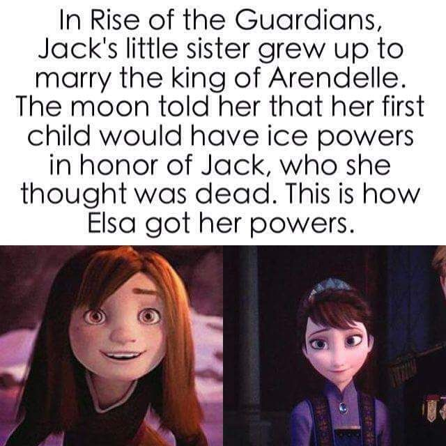 Rise of the Guardians and Frozen Theory