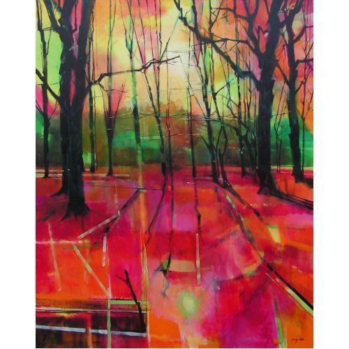 Doug Eaton - Mile End Woods SOLD - Renowned Forest of Dean Artist