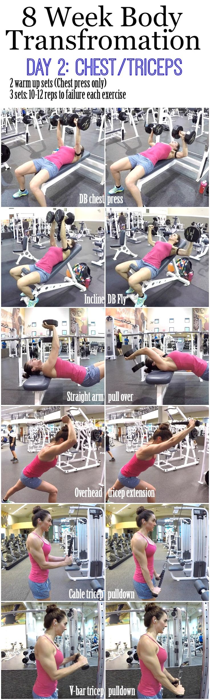 Build bigger biceps with this one trick Welcome to Day 2!! I hope Day 1 went well and you really pushed your legs to fatigue. Today we are going to be working our Chest and Triceps. So before I begin I need to say that ladies, it is very