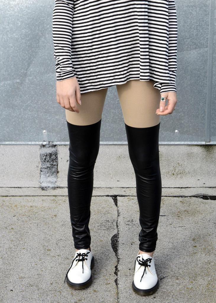 Black and White Stripe Vent Tee - BABOOSHKA BOUTIQUE - 2