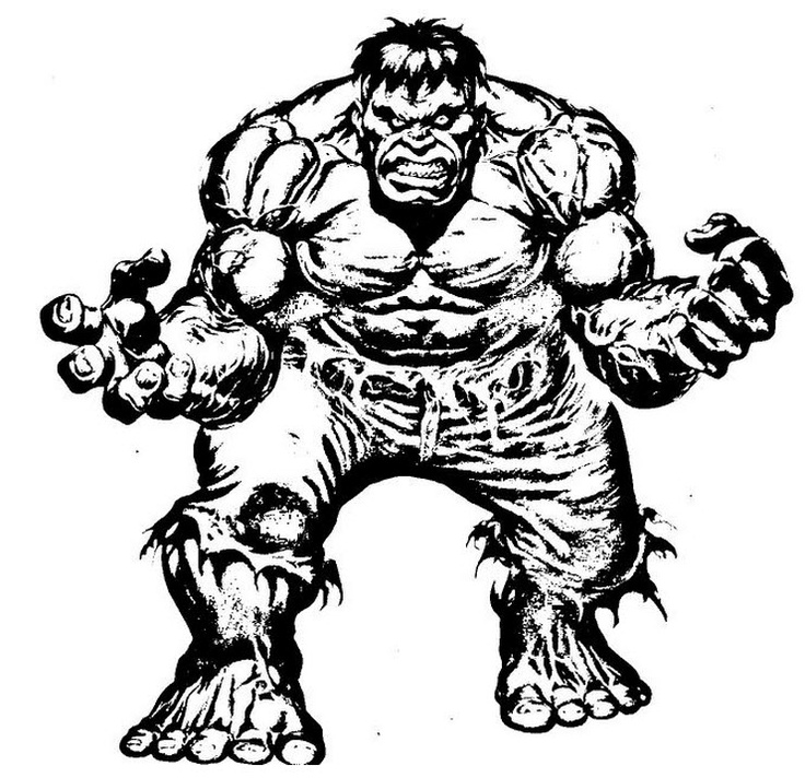 Free Online Hulk Coloring Pages For Kids
