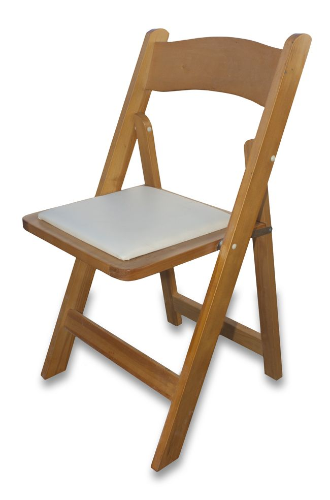 Wooden Padded Folding Chair - South Coast Party Hire
