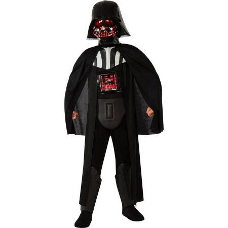 Deluxe Light-up Darth Vader Child Halloween Costume, Boy's, Size: Medium, Black
