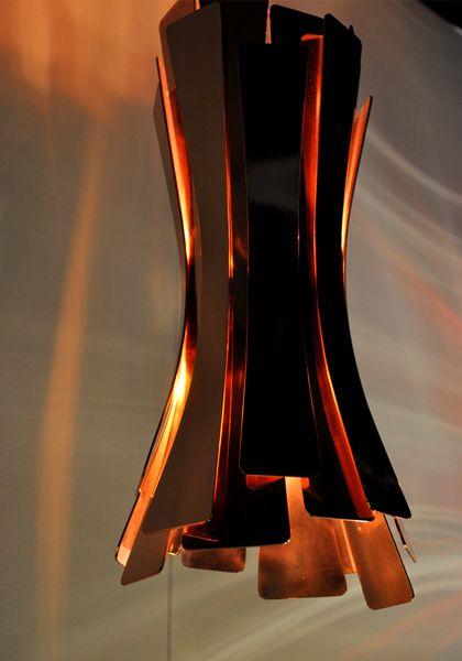 DELIGHTFULL - UNIQUE LAMPS   ETTA   SUSPENSION CEILING PENDANT: Lamps Copper, Pendants Lamps, Unique Lamps, Ceilings Pendants, Floors Lamps, Copper Lamps, Pendants Lights, Modern Lights, Vintage Desks