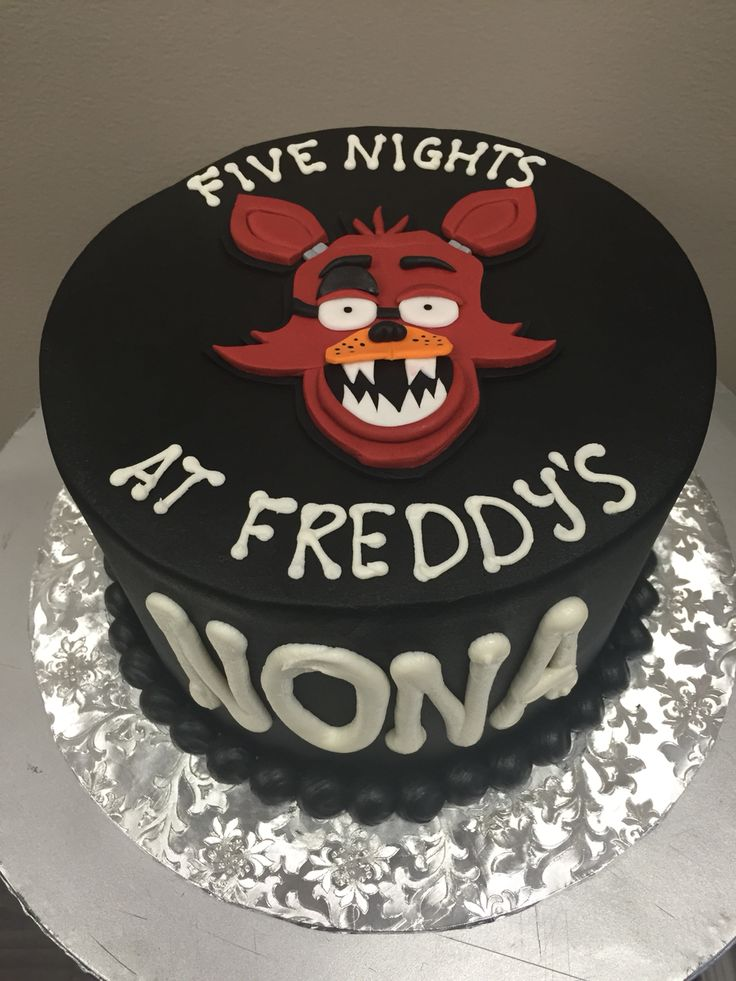 Five Nights At Freddy S Bedroom Decor: Five Nights At Freddy's Cake! With Foxy