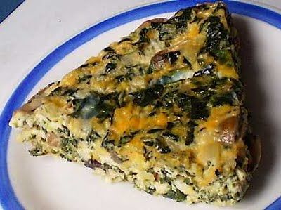 Spinach, Rice and Feta Pie