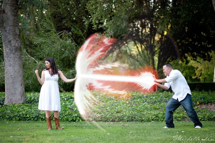 Superhero engagement session -  Michelle Chiu Photography.
