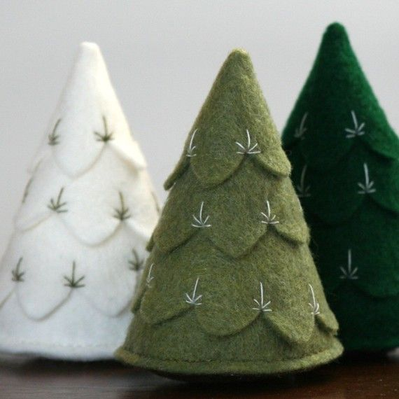little felt trees