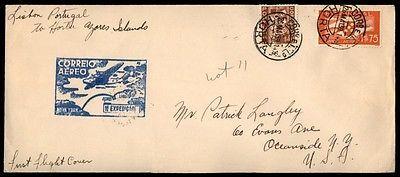 May 26, 1939 Horta Portugal Flight Cover To Azores Island Horta
