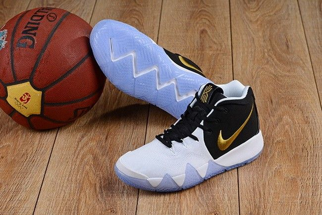 7bac397b73c1 Nike Kyrie 4 White Black-Gold For Sale