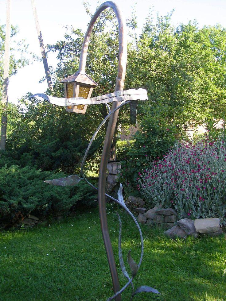 Hand forged garden lamp. See more my work: https://www.facebook.com/OGNIK-kowalstwo-artystyczne-Szalowa-1536036913329982/?ref=hl Ręcznie kuta lampa ogrodowa.