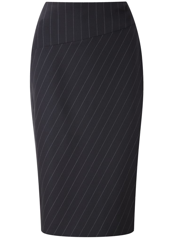 Black Pinstripe Skirt - Skirts - Austin Reed