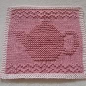 Teapot III Dishcloth - via @Craftsy