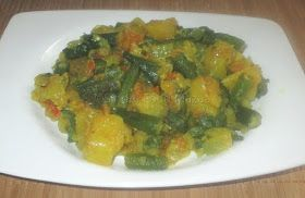 Sindhi Bhendi Aloo Ki Subji Ingredients: Bhindi / okra / lady's finger ... 250 gms Onion ................ 2 ( chopped finely) Potatoes ............ 2 (...