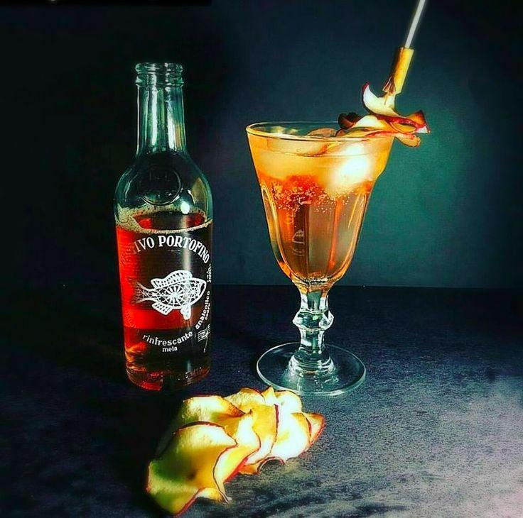 Avete mai assaggiato una torta della nonna in forma liquida ed alcolica?  Ecco la ricetta: 3cl Gin  Festivo Portofino Stecche di cannella  e 3 fette di bucce di mela. Metodo: Riempire un bicchiere da cocktail con il ghiaccio, versare il gin, riemprie con il Festivo portofino e mixare delicatamente. Guarnire con cannella e strisce di buccia di mela. Che ne pensi? #drinkefood #aperitivo