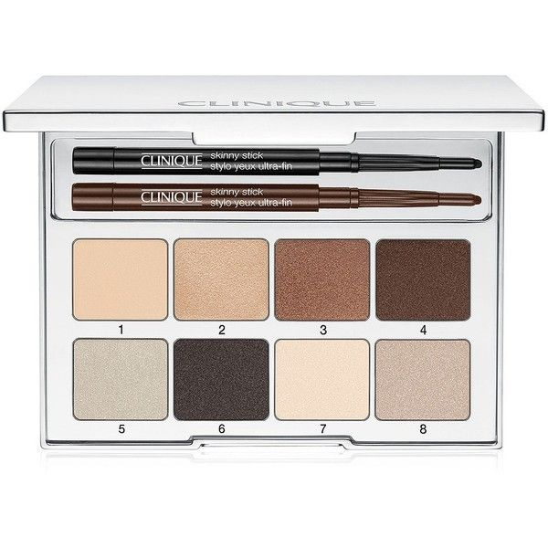 Clinique Pretty Easy Eye Palette-0.32 oz. found on Polyvore featuring beauty products, makeup, eye makeup, eyeshadow, one color, clinique eyeshadow, clinique eye makeup, clinique, clinique eye shadow and palette eyeshadow