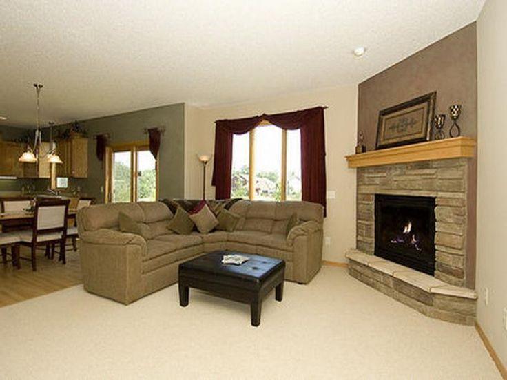 Arranging Furniture In Living Room With Corner Fireplace Design
