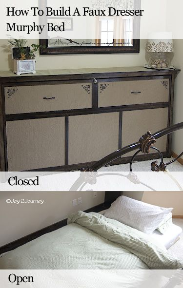 How To Build Faux Dresser Murphy Bed DIY: Faux Dressers, Guest Bedrooms, Murphy Beds, Building Faux, Beds Diy, Cool Ideas, Guest Rooms, Dressers Murphy, Long Bedrooms Ideas